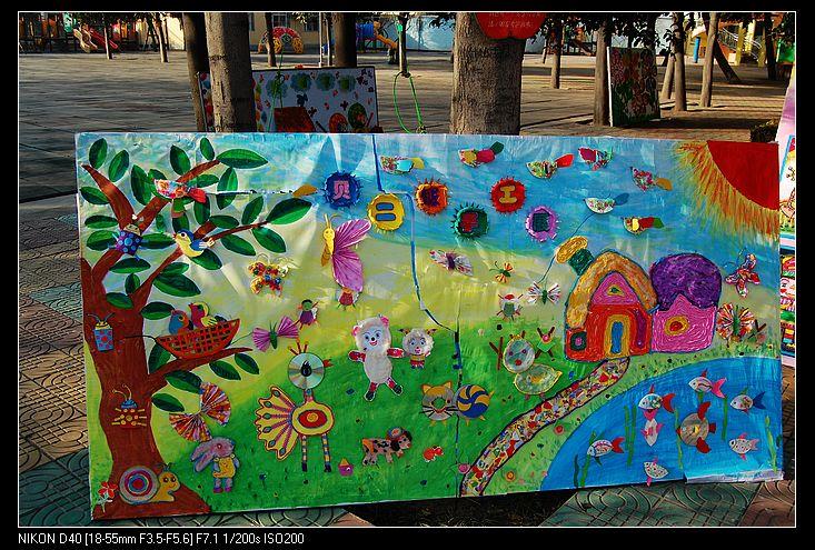 儿童创意刮画作品