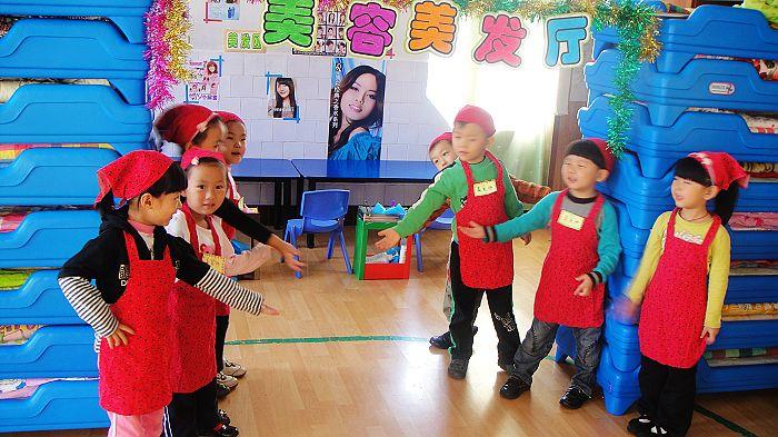 育才幼儿园角色游戏活动 高清图片